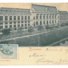 4507 - BUCURESTI, Justice Palace, Tribunalul, Litho - old PC - used - 1901 - TCV, Circulata, Printata