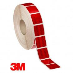 Banda reflectorizanta segmentata rosie 3M, latime 5 cm, pentru suprafete flexibile