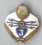 Insigna Militara - TRANSMISIUNI - armata romana 1970, clasa a 3a