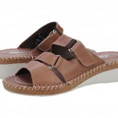 Sandale piele dama Slipper Durian maro 221002MARO
