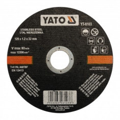 Disc debitat metal/inox, 125x1.2X22mm, Yato YT-6103