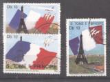 Sao Tome e Principe 1989 French Revolution, Flags, used M.271
