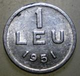 7.668 ROMANIA RPR 1 LEU 1951, Aluminiu
