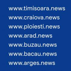 Vanzare domenii .news (craiova.news, timisoara.news, alba, ploiesti, oradea,etc)
