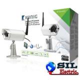 Camera supraveghere video IP de exterior, argintie, konig, Camera IP