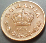 Moneda 1 LEU - ROMANIA, anul 1938   *cod 920 XF