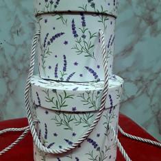 Set 2 cutii aranjamente trandafiri de săpun,rotunde   14 cm / h 13 cm