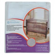 Plasa de protectie patut bebe, 100x90x70 cm