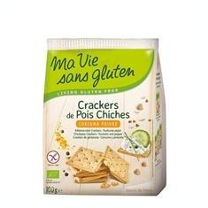 Crackers cu Naut Curcuma si Piper Fara Gluten Bio 100gr Ma Vie Sans Gluten Cod: 3380380084690