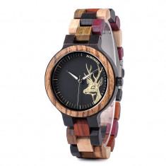 Ceas din lemn Bobo Bird cu curea din lemn, P14-3 Wooden Lux