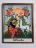 ICOANA PE STICLA - Sf. Hubertus, protectorul vanatorilor