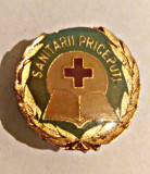 MEDICINA INSIGNA SANITARII PRICEPUTI BRONZ EMAIL RECE 18,10/20,10 MM