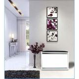 Dulap pantofi din pal, Sanda Homs, alb/maro, 63 x 30 x 45 cm