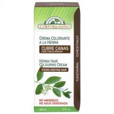 Vopsea henna crema, semipermanenta - Castaniu, Corpore Sano