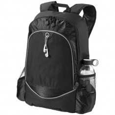 Rucsac Laptop, Everestus, BN, 15 inch, 600D poliester, negru, saculet de calatorie si eticheta bagaj incluse