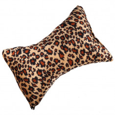 Suport mana pentru manichiura, textil, model leopard
