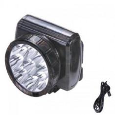 Lanterna pentru frunte cu 9 leduri CU ACUMULATORI