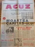 ziarul acuz anul 1,nr. 1 - din 8 - 15 noiembrie 1993-moartea caritas-ului