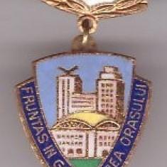 Insigna Fruntas in Gospodarirea Orasului 1987