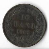 Moneda 10 bani 1867, Heaton - Romania