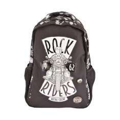 Ghiozdan gimnaziu Pigna Rock Riders negru MCRS1751-2