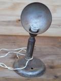 LAMPA INDUSTRIALA VECHE FACUTA DIN TABLA OTELITA SI FIER