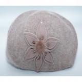Caciula Swella cu floare aplicata,maro