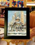 """Tablou, Ovidiu Puscasiu, """" Biserica Stavropoleus """" u/p Dim. : 30 x 40 cm - Ovidiu Puscasiu"""
