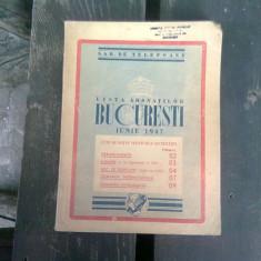 LISTA ABONATILOR S.A.R. DE TELEFOANE, BUCURESTI 1947