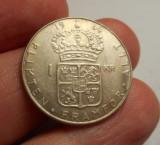 Suedia 1 Krona Coroana 1964 UNC Argint 400/1000, Europa