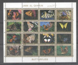 Umm al Qiwain 1973 Butterflies, perf. mini sheetlet, used T.181