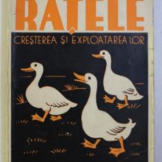 CARTEA PASARILOR - RATELE , CRESTEREA SI EXPLOATAREA LOR de I . CALINESCU , 1938