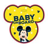 Semn de avertizare Baby on Board Mickey Seven SV9612Initiala