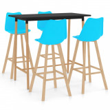 Set mobilier de bar, 5 piese, albastru