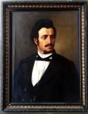 Doua portrete vechi ani 1860-1880 Misu Popp?, Ulei, Altul