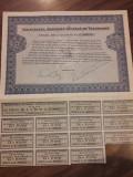 Actiune Societatea Romana de Telefoane titlu 10 actiuni perioada interbelica