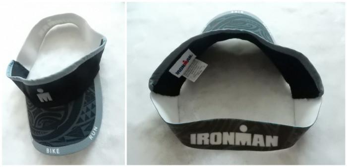 Sapca ciclism Ironman <Swim Bike Run>; marime universala, reglabila.