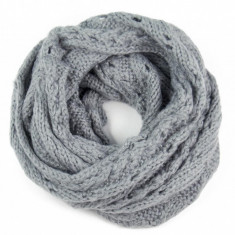Fular circular dama Chip Grey 45x160 cm