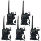 Cumpara ieftin Set 5 statii radio Baofeng UV-5R Dual Band Tranciever + Bonus Casti cu microfon incluse