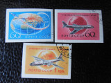 Serie timbre aviatie avioane URSS stampilate