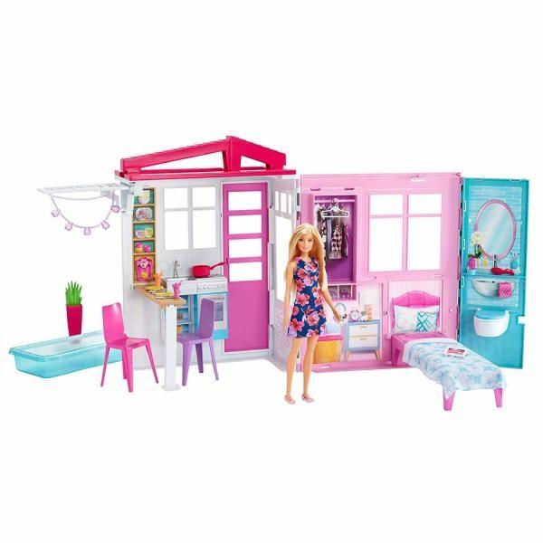 Jucarie Casa Barbie Close and Go, mobilata, papusa inclusa FXG55 Mattel