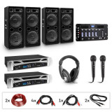 Electronic-Star eStar Bass-Party Pro, sistem DJ, set, 2 x amplificator PA, mixer DJ, 4 x subwoofer