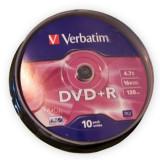 DVD+R 4,7GB, 16X, 10 bucati, Verbatim - 401503