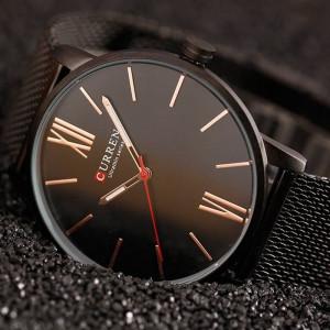 Ceas Curren Slim barbatesc, Elegant, Black - M8238N