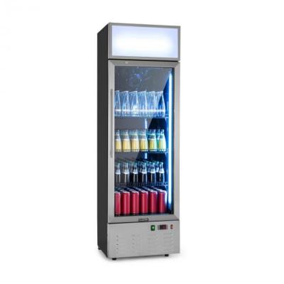 Klarstein Berghain, frigider pentru băuturi, 188 litri, iluminare interioară RGB, 162 W, 2 – 8 °C, oțel inoxidabil foto