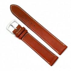 Curea de ceas din piele naturala maro - 17mm - C2987