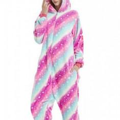 PJM138A-100 Pijama pufoasa intreaga cu model unicorn