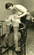 Fotografie Ultra HD dupa ilustrata veche femeie nud A4  21 cm x 30 cm foto