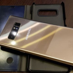 Samsung Note 8, gold, husa flip