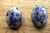 Cercei clips baza cromata cu sodalit